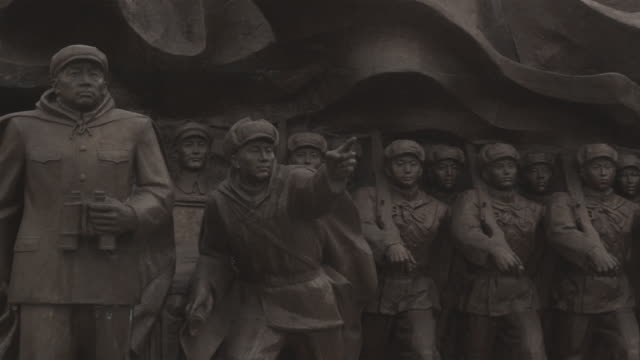 cu pan korean war monument dedicated to chinese war heroes of korean war (1950-1953) / dandong, china - korean war stock videos and b-roll footage