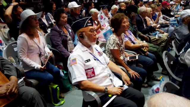 Korean war veterans attend the ceremony to mark the 69th anniversary of the Korean War on June 25 2019 in Seoul South Korea Over 66000 South Koreans...