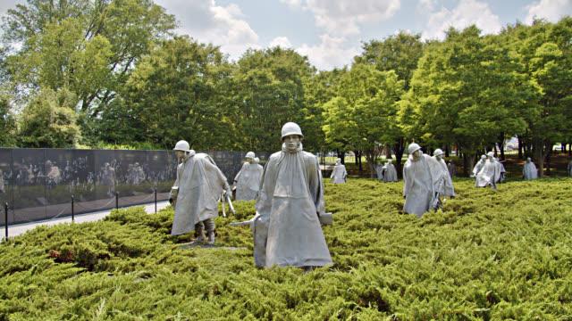 korean war veterans memorial. nature. non-urban scene. remembrance. - memorial event stock videos & royalty-free footage