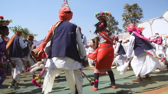 Korku Tribals Dance, Maharashtra, India.