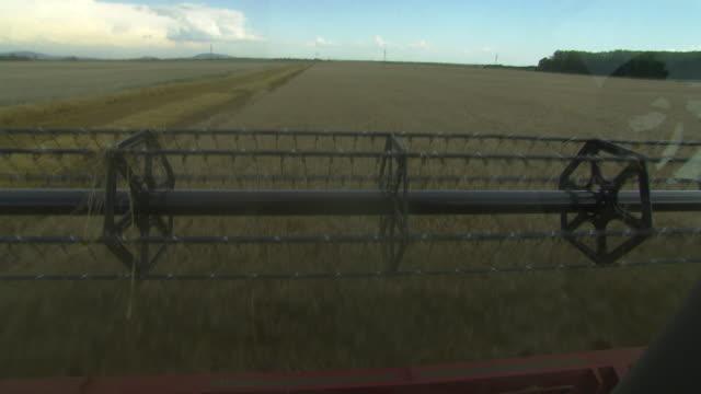 stockvideo's en b-roll-footage met korn zum mehl - harvesting a cornfield in lower austria 05 - lower austria