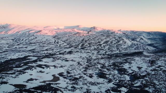 kosciuszko mountain range at dawn - australian alps stock videos & royalty-free footage