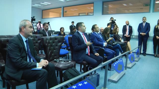 kosovan foreign minister behgjet pacolli meets with bulgaria's foreign minister ekaterina zakharieva in pristina kosovo on october 19 2017 - pristina stock videos and b-roll footage