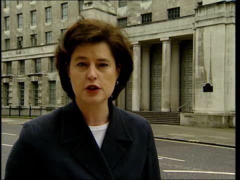 stockvideo's en b-roll-footage met nato air strikes / australian aid workers itn england london i/c - kosovo