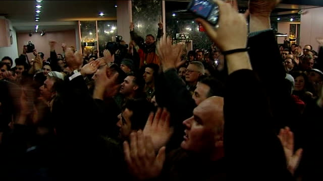 Kosovo declares independence from Serbia People cheering and celebrating