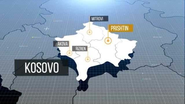 Kosovo-Karte