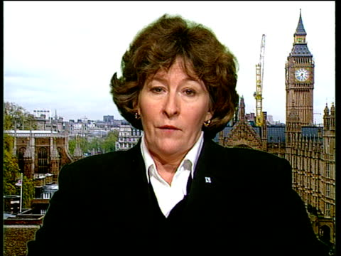 nato action/diplomacy/war crimes itn england london westminster judge louise arbour interview sot talks of procedures she must follow / allegations... - war crimes trial stock videos & royalty-free footage