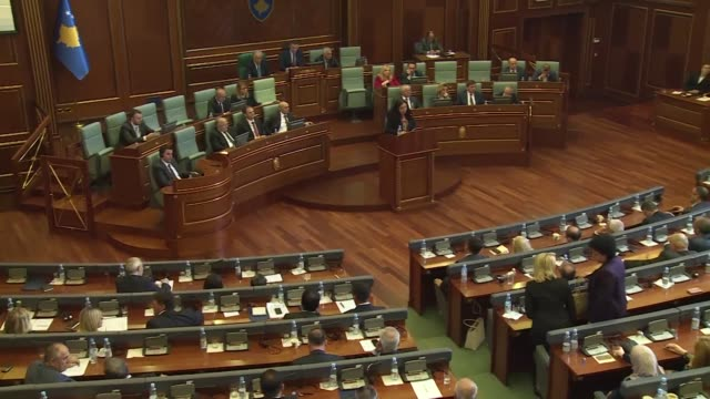 kosovo's government collapses after it lost a confidence vote in parliament a move expected to trigger a snap election after more than a year of... - pristina stock videos and b-roll footage