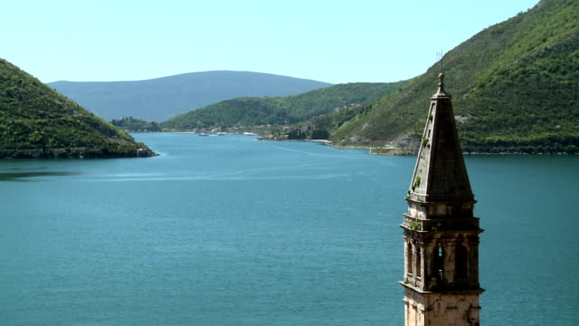 kotor bay from perast - perast stock videos and b-roll footage
