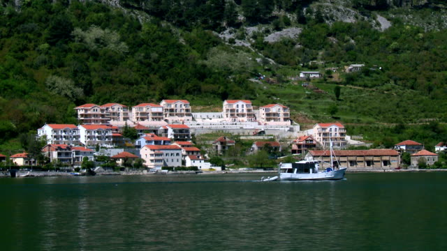 kotor bay - perast stock videos and b-roll footage