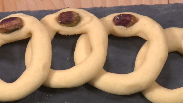 kourabia, armenian butter cookies - eastern european culture stock videos & royalty-free footage
