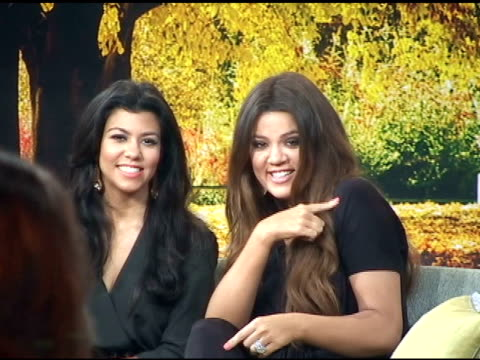 Kourtney and Khloe Kardashian wave at fans before taping 'Good Morning America' in New York 09/07/11