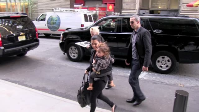 Kourtney Kardashian and family at the Hotel Gansevoort in New York on