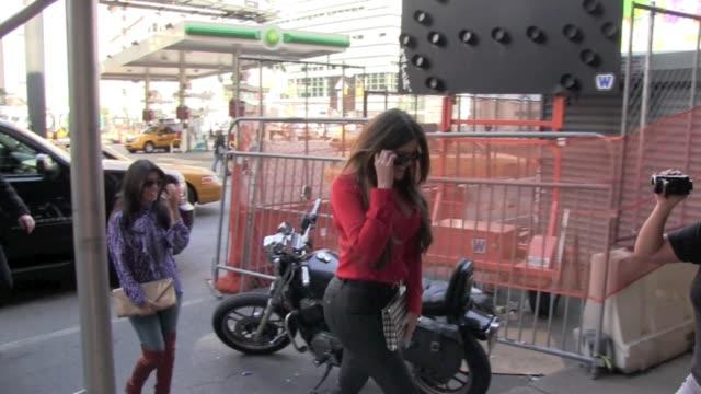 Kourtney Kardashian and Khloe Kardashian in Soho on
