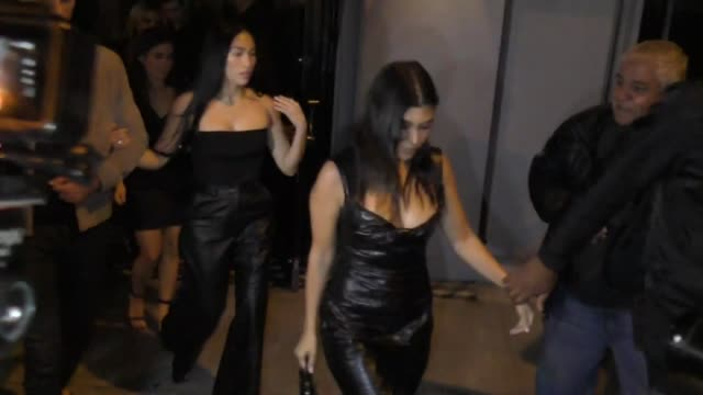 kourtney kardashian and larsa pippen outside craig's in west hollywood at celebrity sightings in los angeles on november 02, 2019 in los angeles,... - arts culture and entertainment stock videos & royalty-free footage