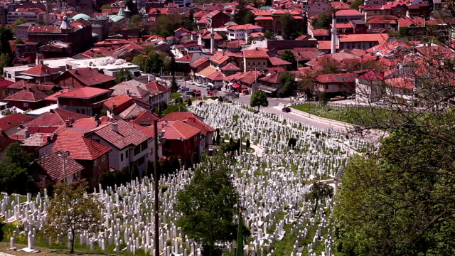 kovaci war cemetery in sarajevo - bosnia and hercegovina stock videos & royalty-free footage
