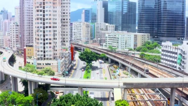 vídeos de stock, filmes e b-roll de kowloon bay - kowloon