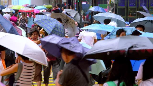 kowloon streets - hong kong stock videos & royalty-free footage
