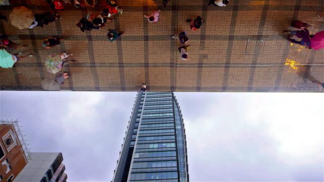 kowloon streets - pedestrian video stock e b–roll