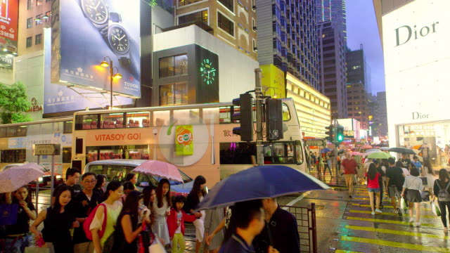 kowloon streets - kowloon stock videos and b-roll footage