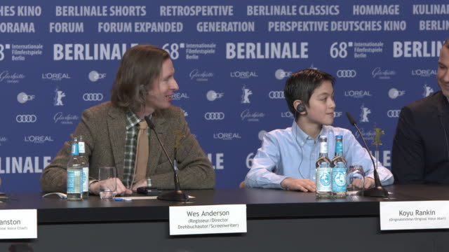 Koyu Rankin with Cast singing happy birthday to him at 68th Berlin Film Festival Isle of Dogs Press Conference at Grand Hyatt Hotel on February 15...