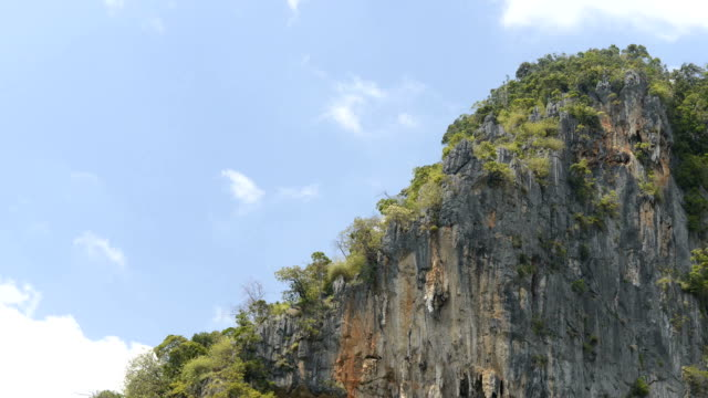 krabi thailand karst formation with cloud sky timelapse - karst formation stock videos & royalty-free footage