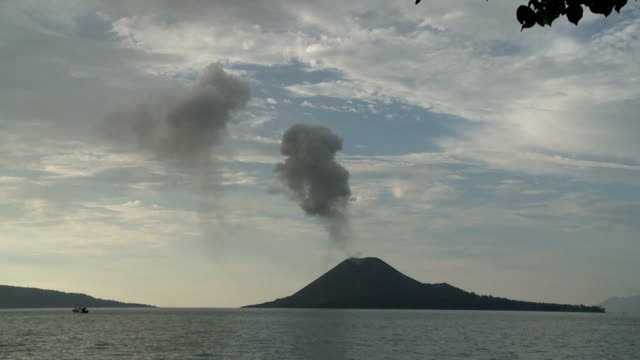 krakatau - indonesia volcano stock videos & royalty-free footage
