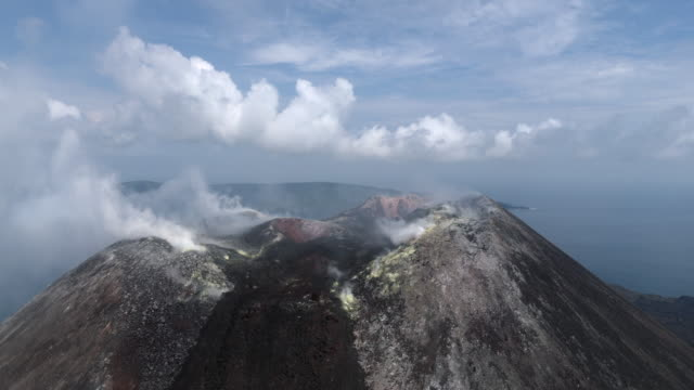 Krakatau volcano mountain crater