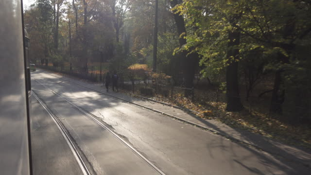 krakow tram point of view - tram point of view stock videos and b-roll footage