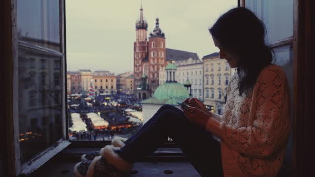 krakow - window sill stock videos and b-roll footage