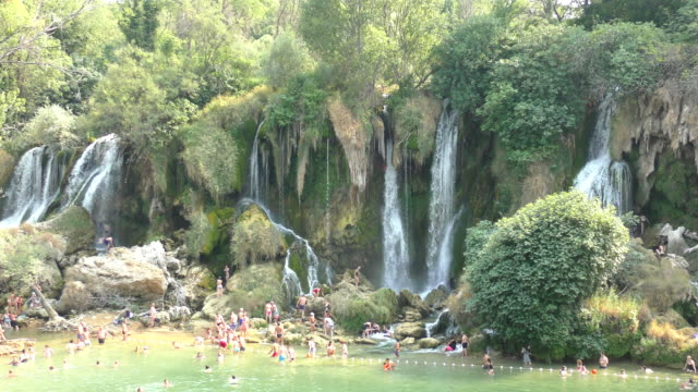 kravica waterfalls - bosnia and herzegovina - bosnia and hercegovina stock videos & royalty-free footage