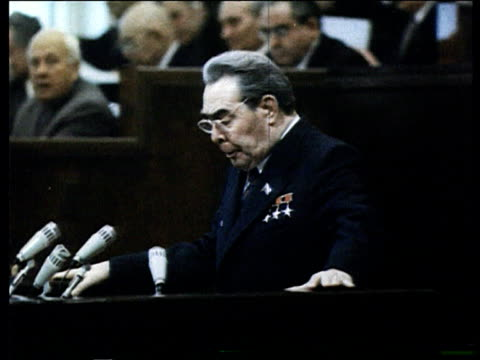 Kremlin Brezhnev speaking at a CPSU Party Congress