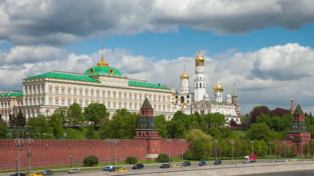 kremlin, moscow, russia. best view of the kremlin - red square stock videos & royalty-free footage