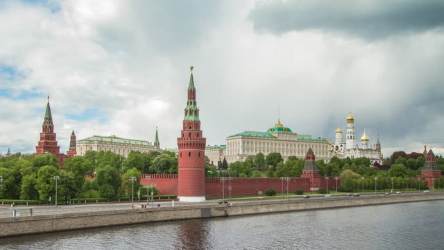 kremlin, moscow, russia. classic view. - red square stock videos & royalty-free footage