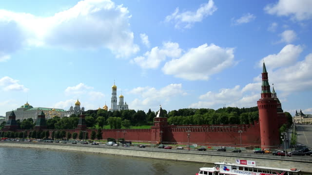 kremlin palace in moscow, russia - river moscva stock videos & royalty-free footage