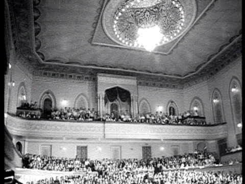 kremlin palace of congress cpsu party congress chairman of council of ministers prime minister nikolay tikhonov's speech audience listening to... - 1939 stock-videos und b-roll-filmmaterial