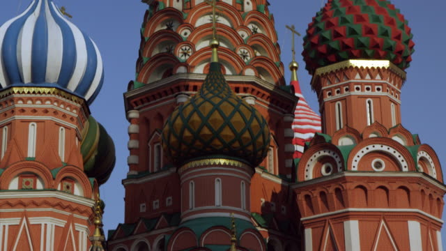 kremlin, russia - st. basil's cathedral stock videos and b-roll footage
