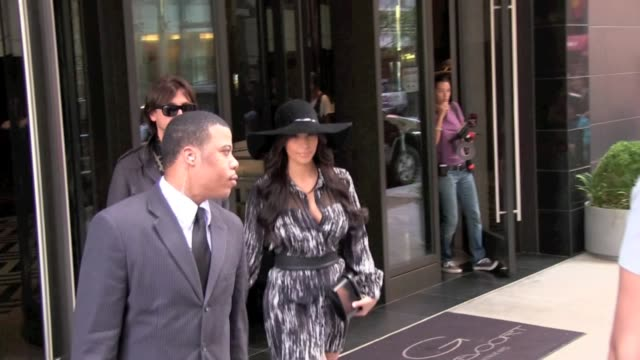 Kris Humphries leads wife Kim Kardashian and Jonathan Cheban out of Gansevoort Hotel in New York