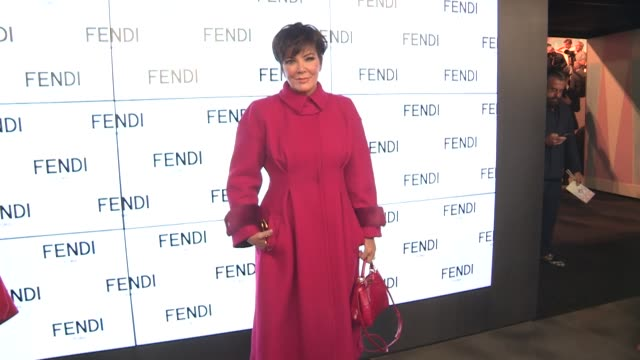 kris jenner front row at the fendi ready to wear spring summer 2018 fashion show in milan thursday september 21 2017 milan italy - 木曜日点の映像素材/bロール