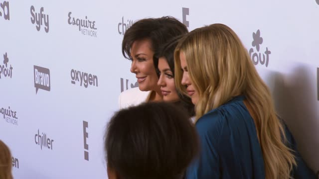 Kris Jenner Khloe Kardashian and Kylie Jenner at NBCUniversal Cable Entertainment Upfront 2015 at The Jacob K Javits Convention Center on May 14 2015...