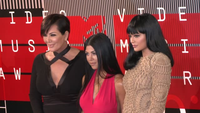 Kris Jenner Kourtney Kardashian and Kylie Jenner at the 2015 MTV Video Music Awards at Microsoft Theater on August 30 2015 in Los Angeles California