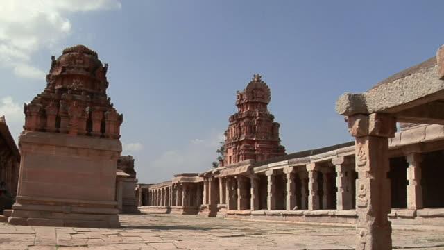ws krishna temple/ hampi, karnataka, india - temple building stock videos & royalty-free footage