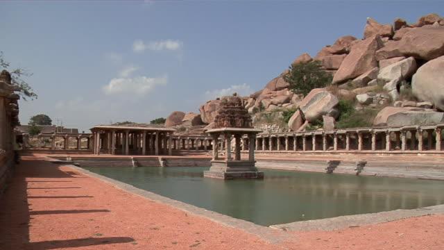ws pan krishna temple/ hampi, karnataka, india - temple building stock videos & royalty-free footage