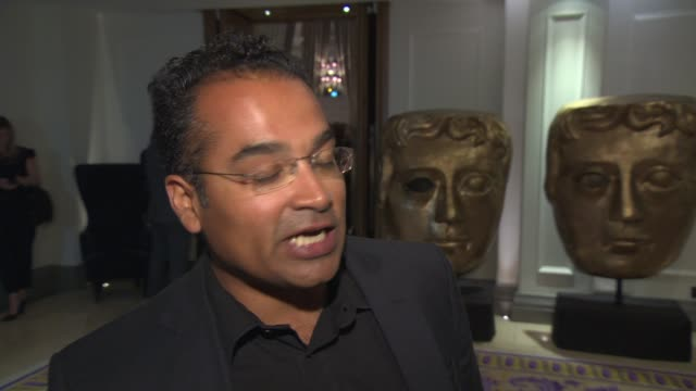 INTERVIEW Krishnan Guru Murthy talks about Channel 4 news at Bafta TV and Craft Party at Corinthia Hotel London on April 24 2014 in London England