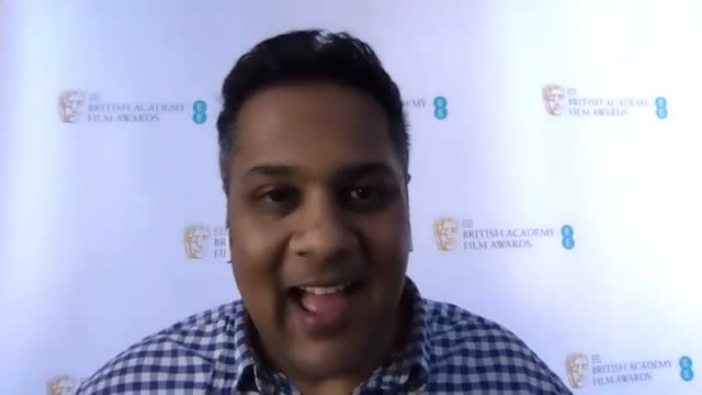 krishnendu majumdar, bafta chair on the nominations being a boost for the global film industry following the virtual ee british academy film awards... - vitality stock videos & royalty-free footage