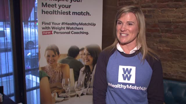 interview krissy smith on today's event on her role as a coach with weight watchers on the weight she lost with weight watchers on how important... - hand weight stock videos & royalty-free footage