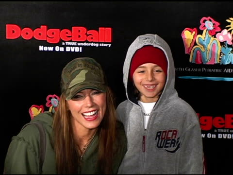 Krista Allen and son at the Dodgebal The Celebrity Tournament at Hollywood Palladium in Hollywood California on December 8 2004