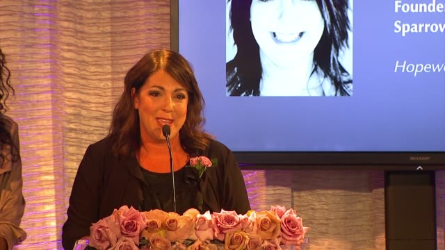 speech krista jones at pandora hearts of today honoree luncheon at montage beverly hills on november 15 2014 in beverly hills california - montage beverly hills stock videos & royalty-free footage