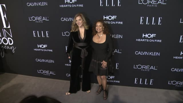 krista vernoff and debbie allen at elle's 25th annual women in hollywood celebration presented by l'oreal paris, hearts on-fire and calvin klein on... - debbie allen stock videos & royalty-free footage