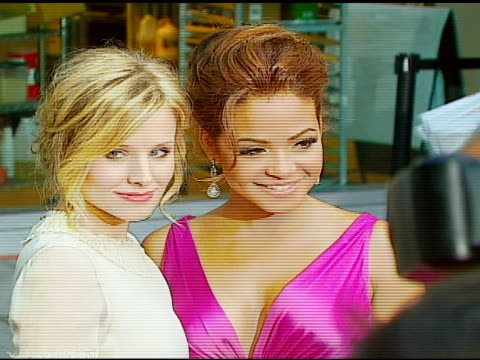 kristen bell and christina milian at the 'pulse' los angeles premiere at arclight cinemas in hollywood california on august 10 2006 - kristen bell stock videos and b-roll footage